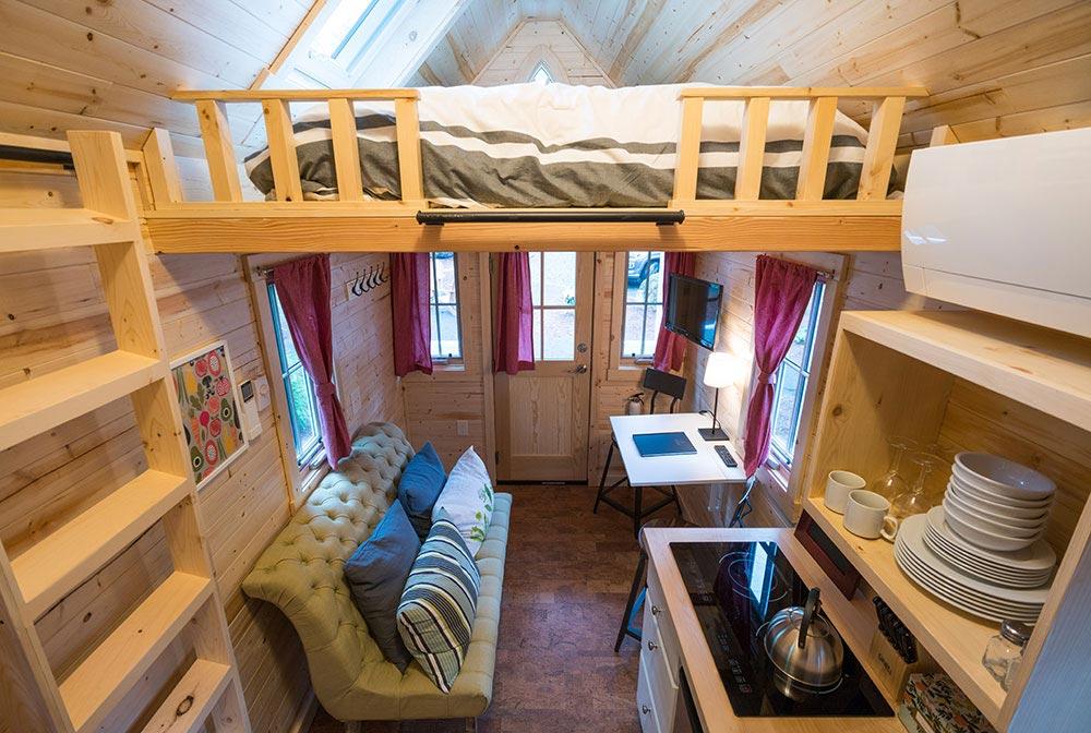 Entryway and bedroom loft - Scarlett at Mt. Hood Tiny House Village