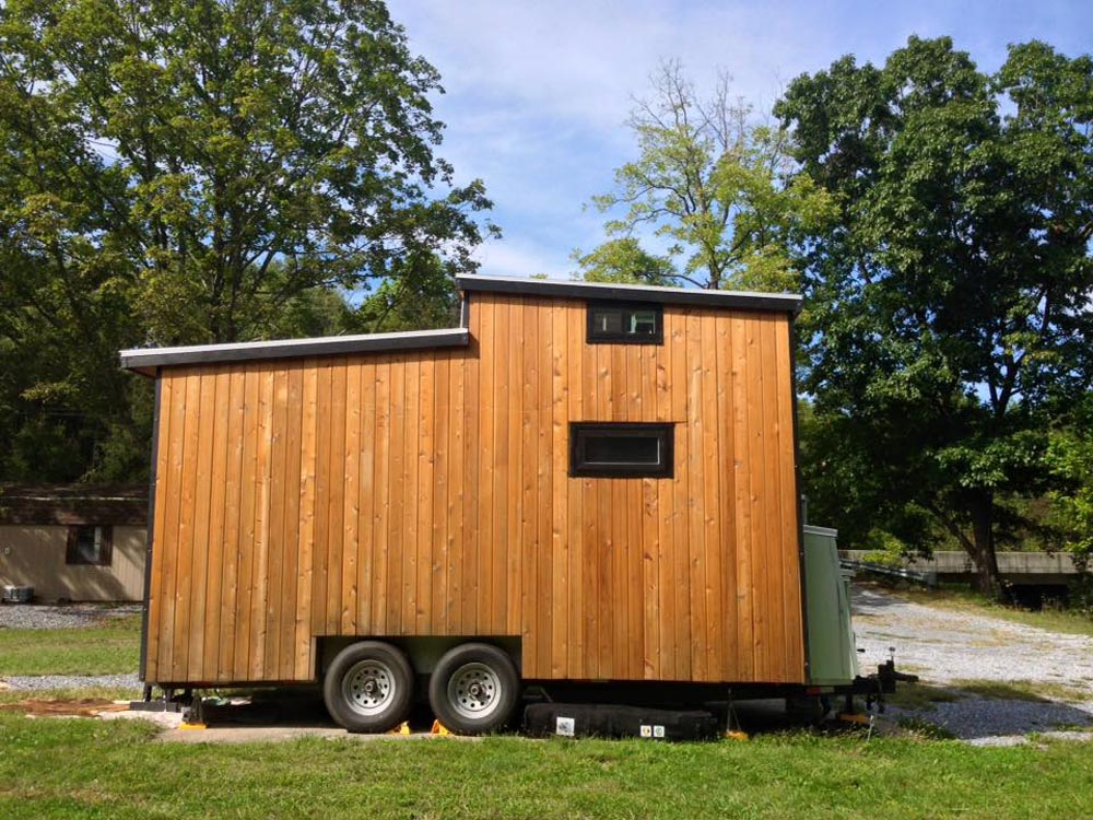 Rear exterior view - Tiny Solar House