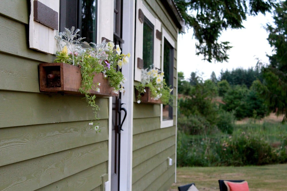 Planters under the windows - Vintage by Tiny Heirloom
