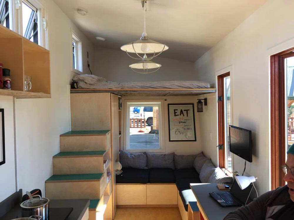 Living room and bedroom loft - The Wedge by Laney College