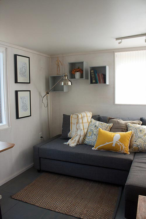 Custom Storage Couch - Liberation Tiny Homes