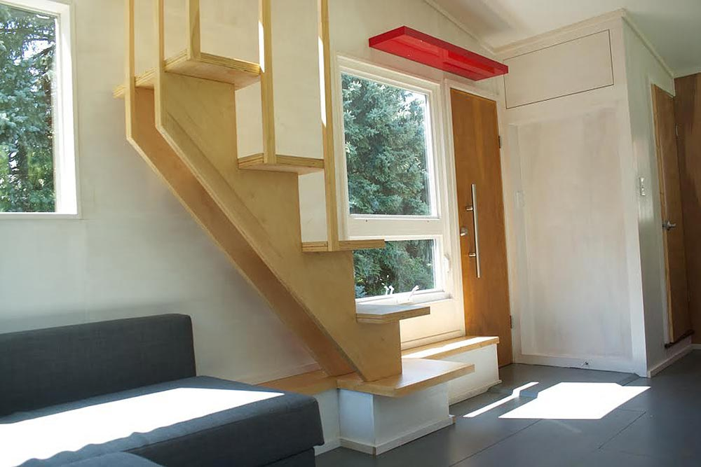 Entryway and Staircase - Liberation Tiny Homes