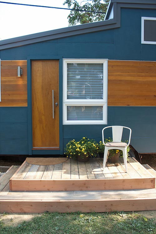 Entryway and Deck - Liberation Tiny Homes