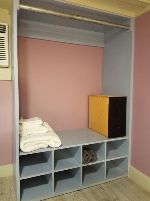 Closet Space - Sarah's Autistic Tiny Home by Maximus Extreme