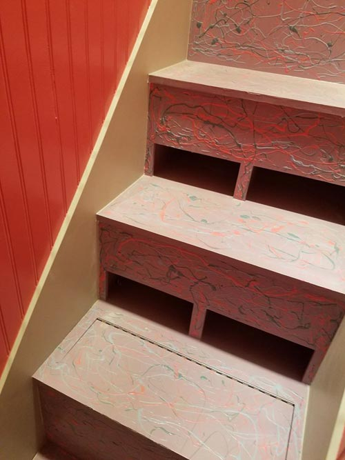 Storage Stairs - Sarah's Autistic Tiny Home by Maximus Extreme