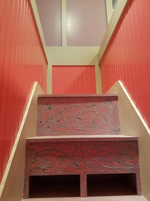 Stairs To Bedroom Loft - Sarah's Autistic Tiny Home by Maximus Extreme