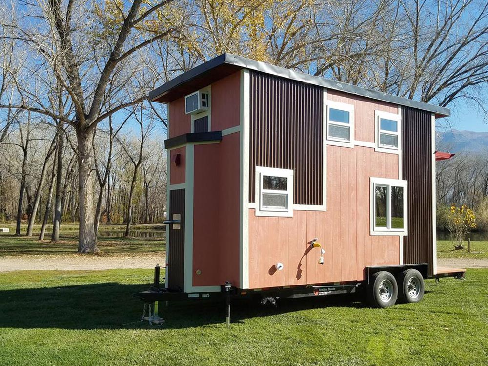 Pink Exterior - Sarah's Autistic Tiny Home by Maximus Extreme
