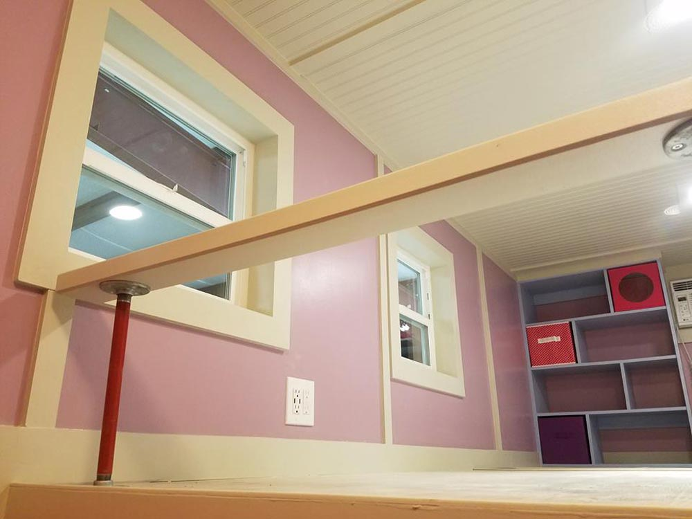 Bedroom Loft Railing - Sarah's Autistic Tiny Home by Maximus Extreme
