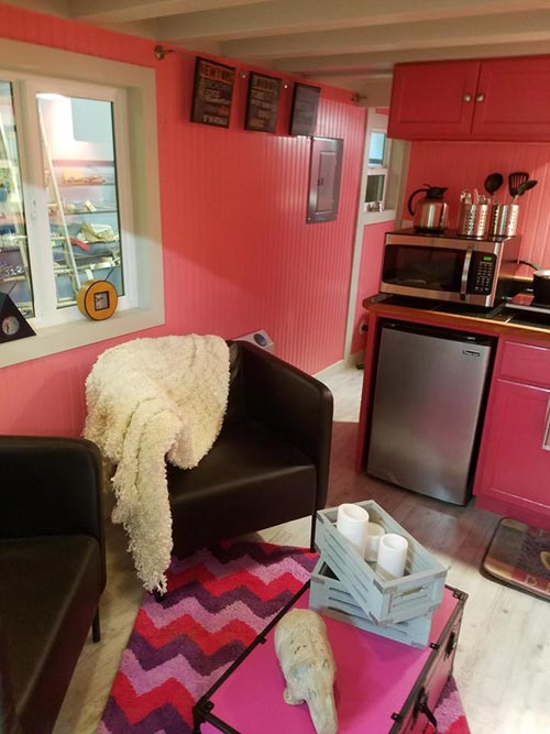Living Room & Kitchenette - Sarah's Autistic Tiny Home by Maximus Extreme