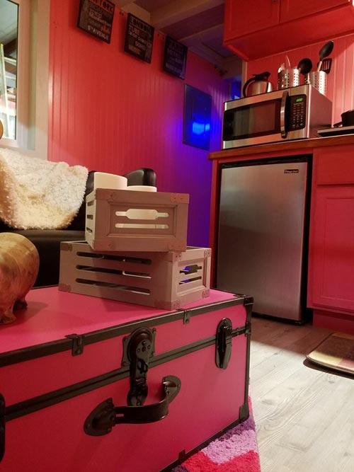 Living Room Decor - Sarah's Autistic Tiny Home by Maximus Extreme