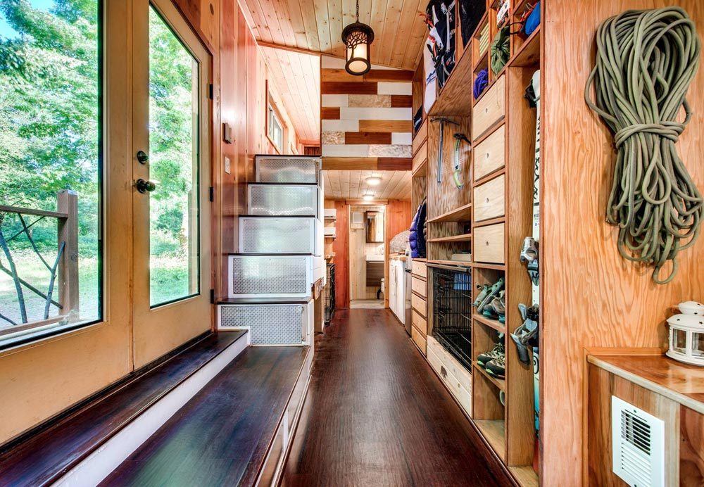 Stairs to Bedroom Loft - Basecamp by Backcountry Tiny Homes