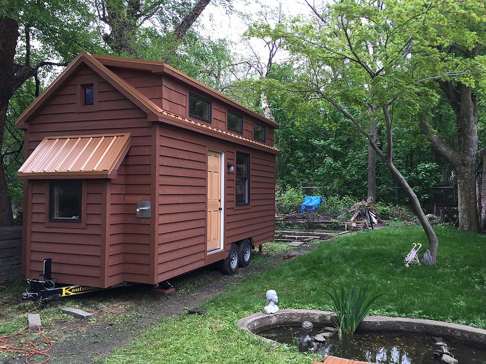 Chocolate brown exterior - Brownie by Liberation Tiny Homes