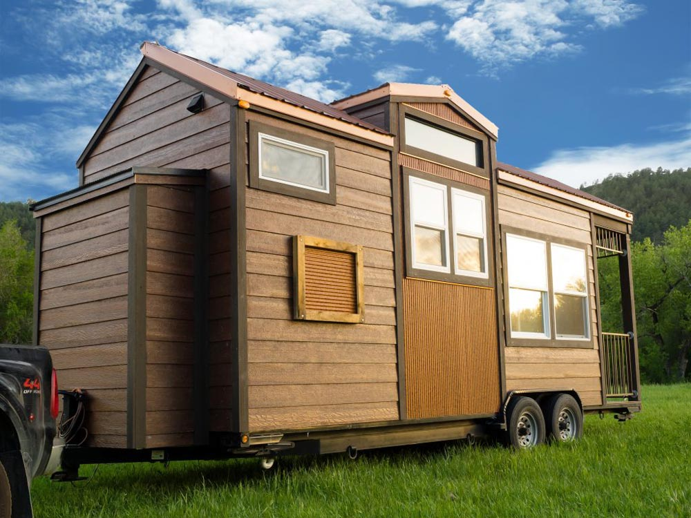 Exterior Side View - Bunkaboose by EcoCabins