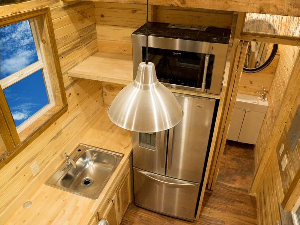 Stainless Steel Appliances - Bunkaboose by EcoCabins