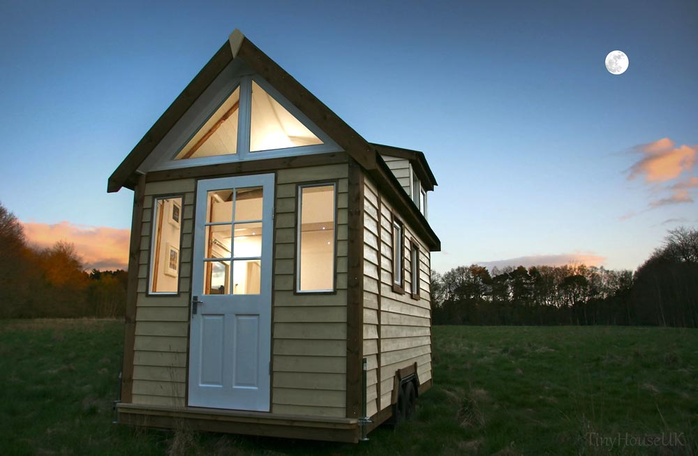 Tiny House at Twilight - Tiny House UK by Mark Burton