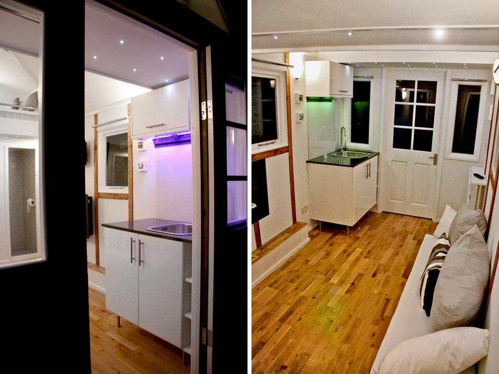Kitchen Sink & Living Area - Tiny House UK by Mark Burton