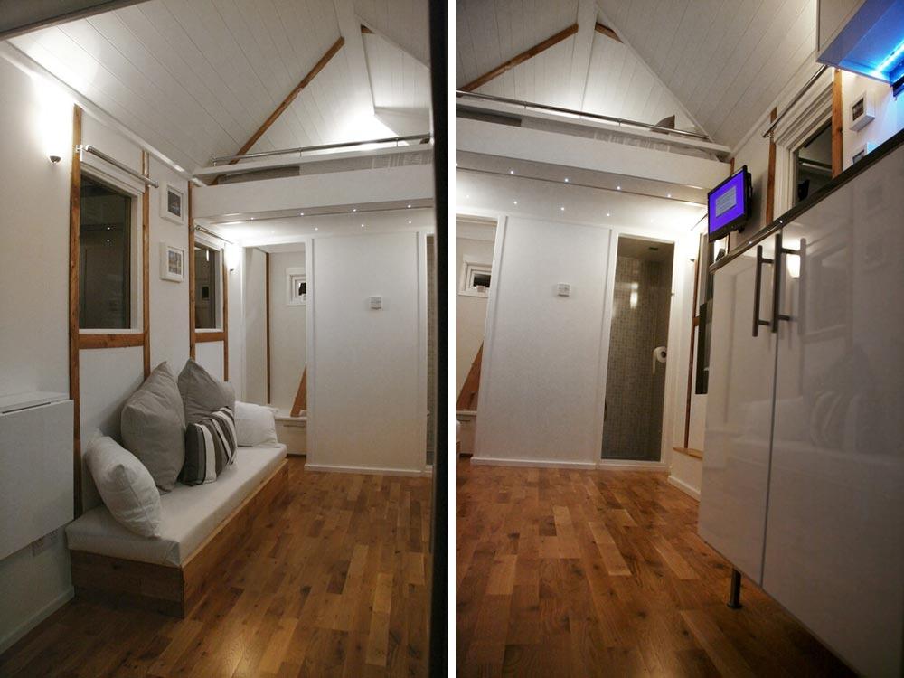 Living room - Tiny House UK by Mark Burton