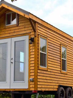 Rustic Cedar Exterior - Cabin in the Woods by Mint Tiny Homes