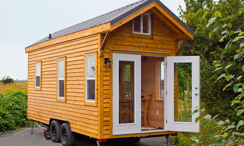 French Doors - Cabin in the Woods by Mint Tiny Homes