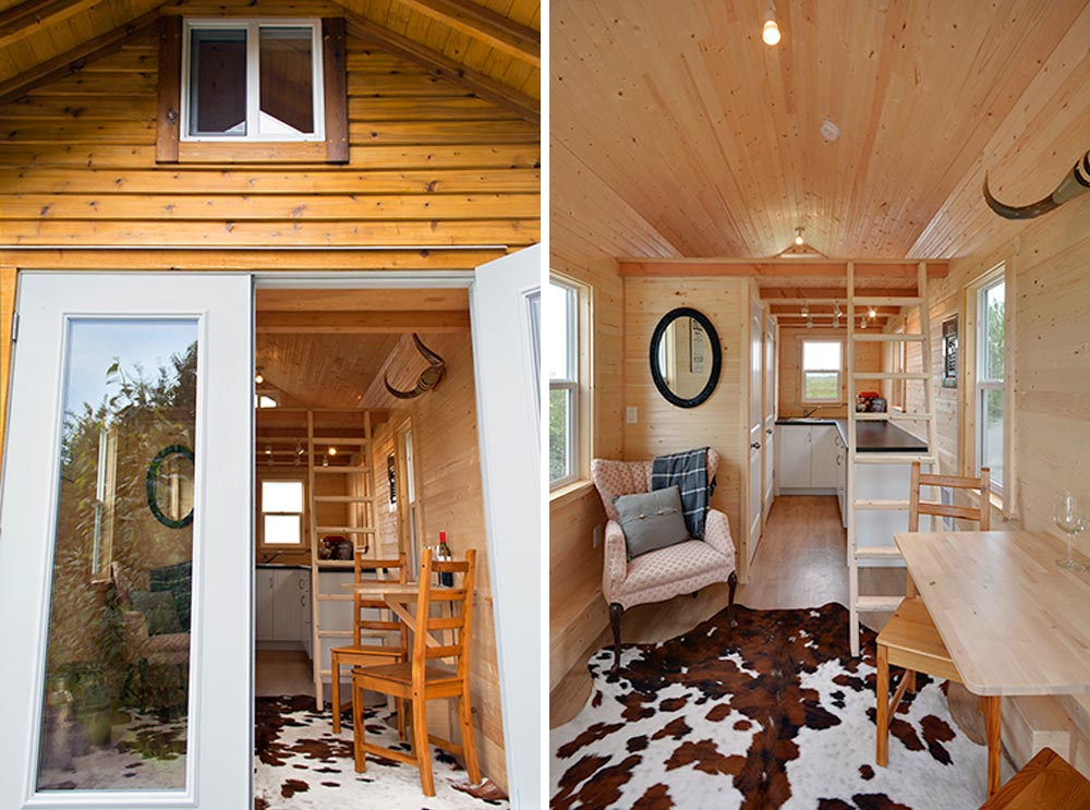 View from entryway - Cabin in the Woods by Mint Tiny Homes
