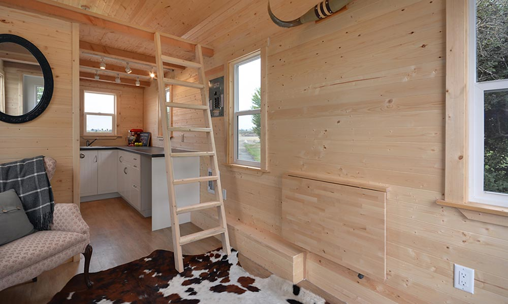 Fold down table - Cabin in the Woods by Mint Tiny Homes