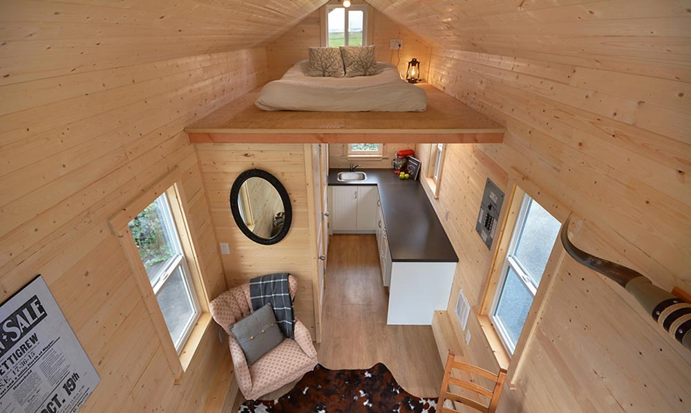 Aerial View - Cabin in the Woods by Mint Tiny Homes