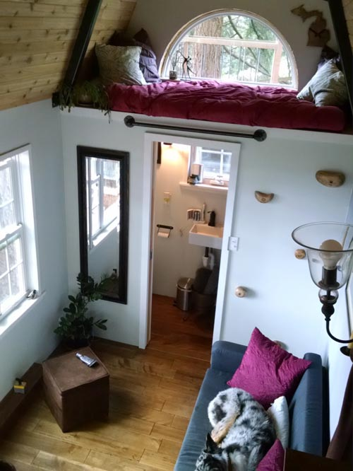 Sleeping Loft & Bathroom - Tiny House by Liz & Tyler Cragg
