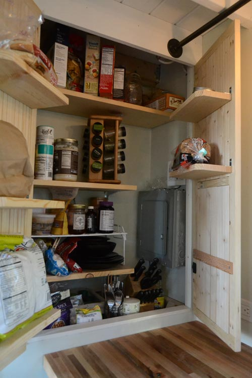 Open Pantry - Tiny House by Liz & Tyler Cragg