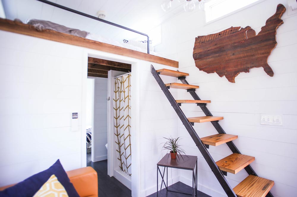 Ladder to Bedroom Loft - Tiny House Giveaway by Lamon Luther