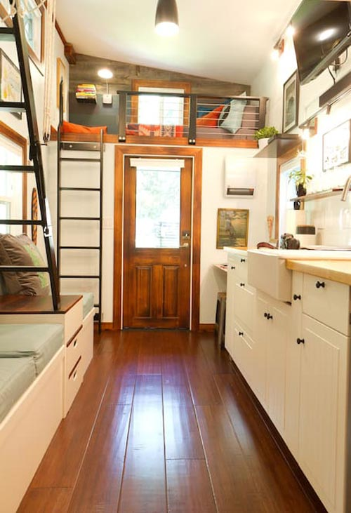 Kitchen and Entryway - Makers Tiny House on Guemes Island