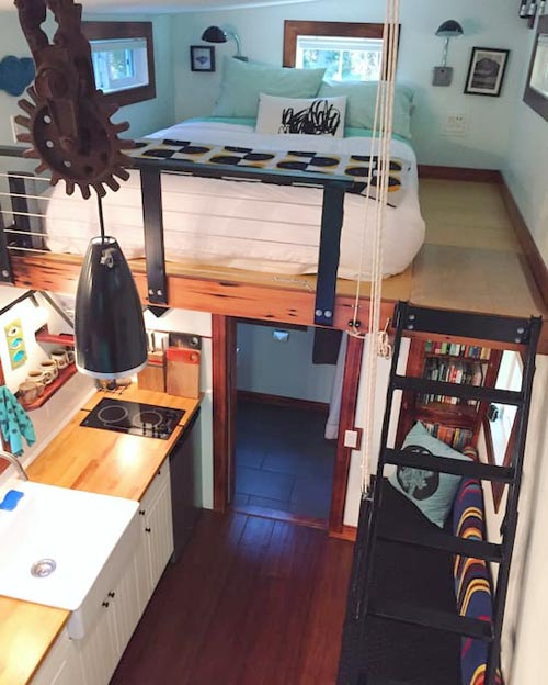 Aerial View - Makers Tiny House on Guemes Island