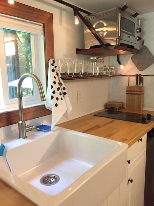 Farm Sink - Makers Tiny House on Guemes Island