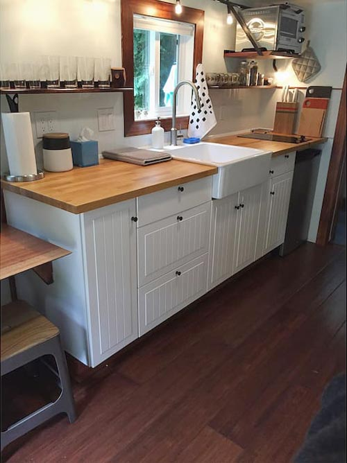 Kitchen Cabinets - Makers Tiny House on Guemes Island