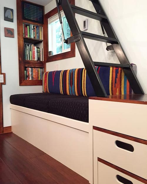 Custom Couch - Makers Tiny House on Guemes Island