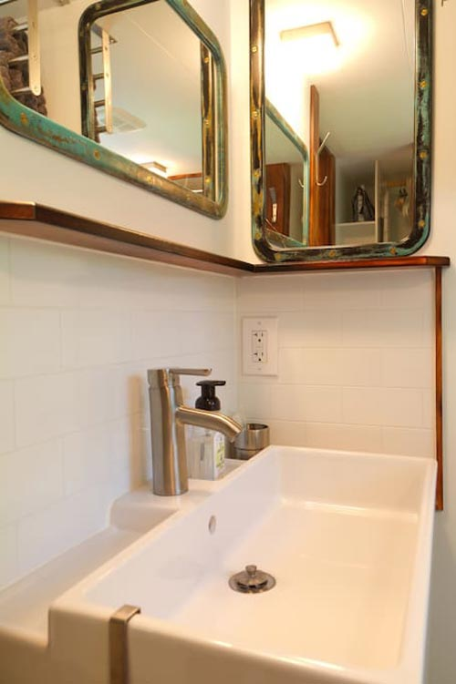 Bathroom Sink - Makers Tiny House on Guemes Island