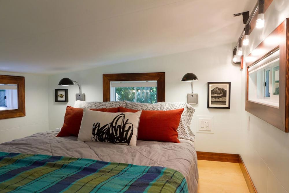 Bedroom Loft - Makers Tiny House on Guemes Island