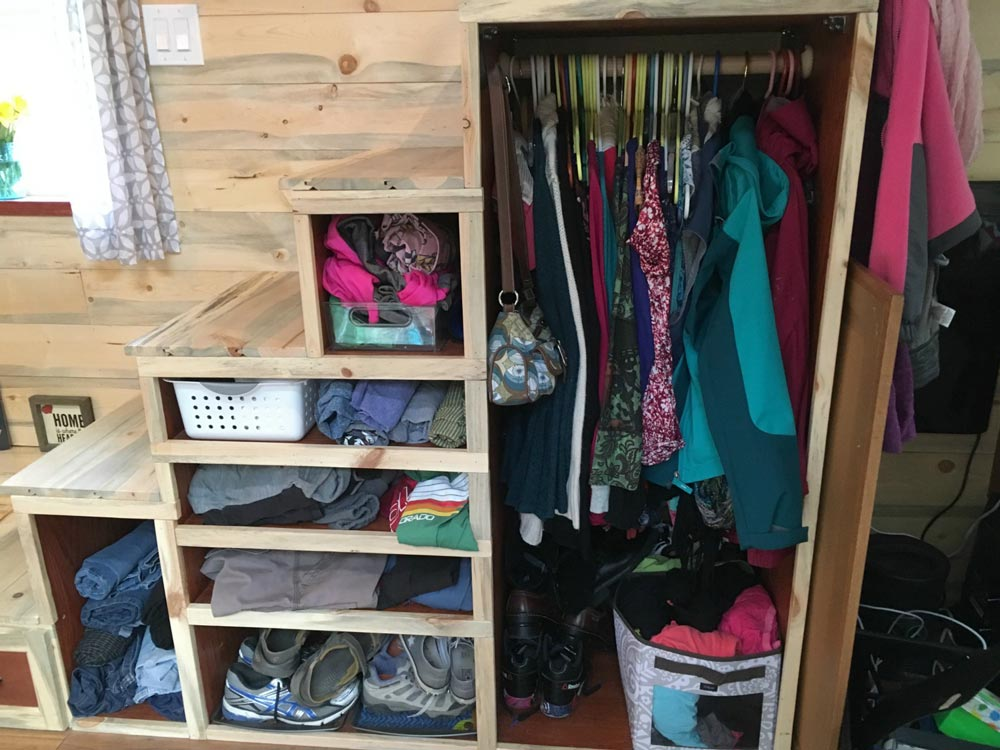 Clothing Storage Stairs - Harmony Haven by Rocky Mountain Tiny Houses