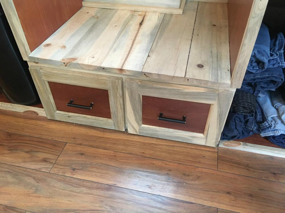 Stair Landing Drawers - Harmony Haven by Rocky Mountain Tiny Houses