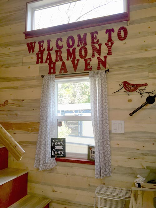 Landing Welcome - Harmony Haven by Rocky Mountain Tiny Houses