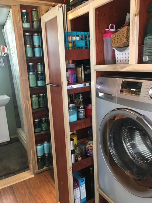 Pantry & Washer/Dryer Combo - Harmony Haven by Rocky Mountain Tiny Houses