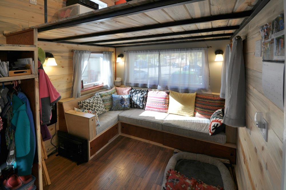 Built-In Couch - Harmony Haven by Rocky Mountain Tiny Houses