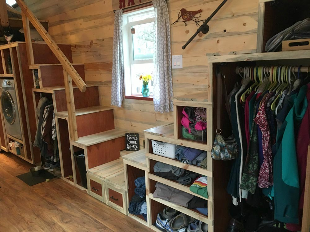 Double Staircase - Harmony Haven by Rocky Mountain Tiny Houses
