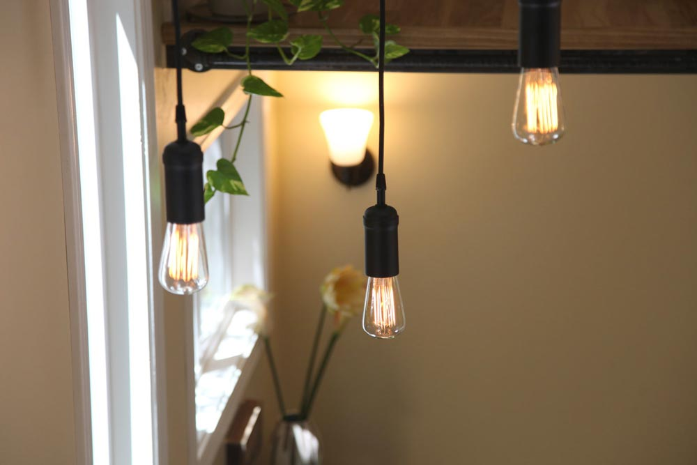 Industrial Lighting Detail - Industrial Chic by Dream Big Dwell Small