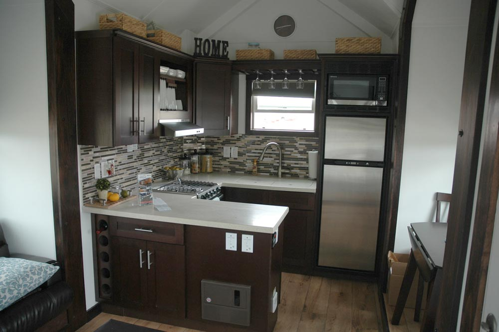 Kitchen w/ Corian Countertops - Jamboree by Tiny Idahomes