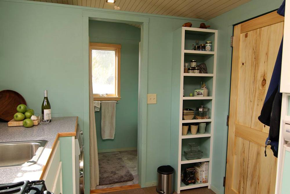 Bathroom Entry - 5th Wheel Tiny House by Ken Leigh