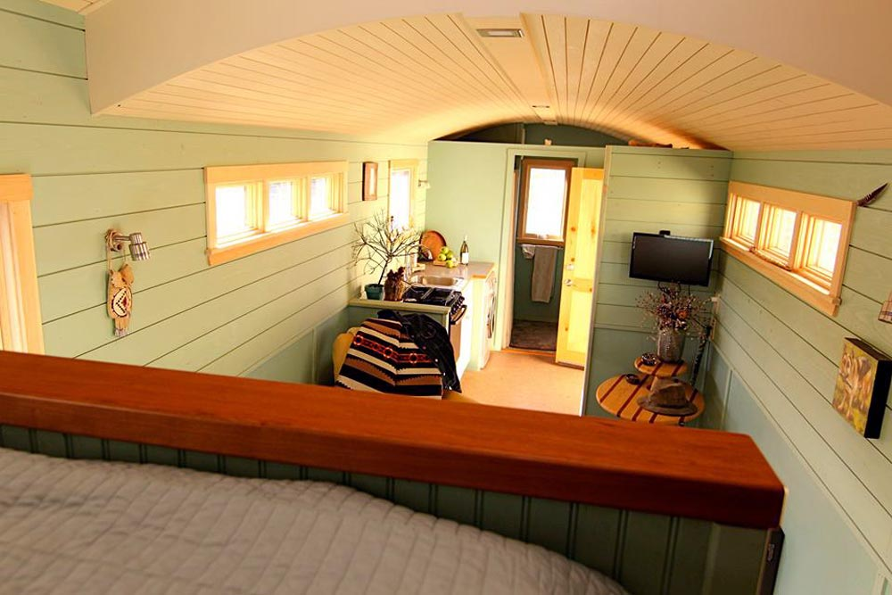 View From Sleeping Loft - 5th Wheel Tiny House by Ken Leigh