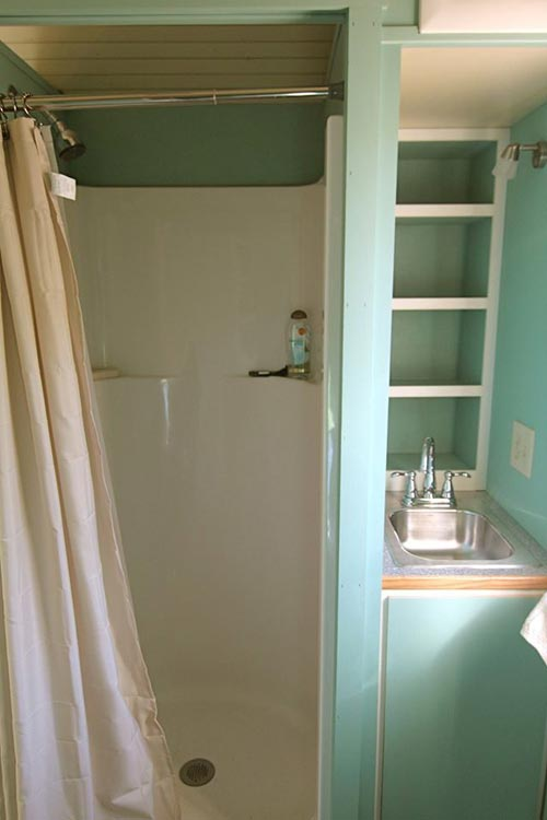Shower Stall - 5th Wheel Tiny House by Ken Leigh
