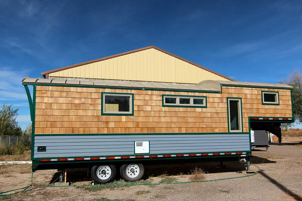 Rear Exterior View - 5th Wheel Tiny House by Ken Leigh