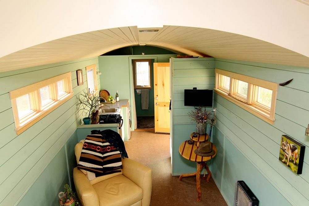 Kitchen & Living Room - 5th Wheel Tiny House by Ken Leigh