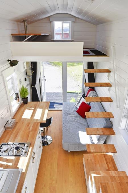 Aerial Interior View - Custom Tiny by Mint Tiny Homes